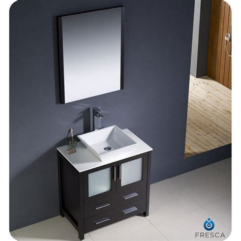 Modern Bathroom Sink Vanity Fresca Torino 30 Quot Espresso Modern Bathroom Vanity With Vessel Sink