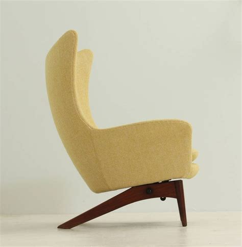 contemporary wing chair danish reclining wing chair by h w klein reclining