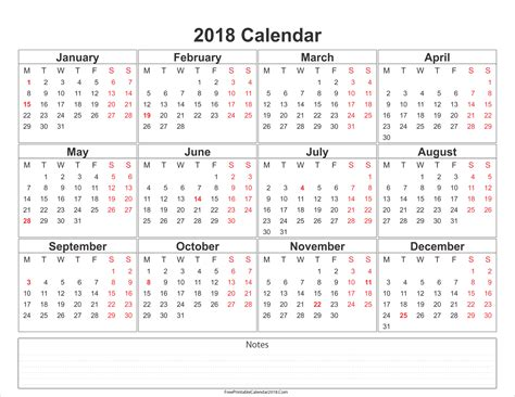 printable calendar 2018 free printable calendar 2018 with holidays in word excel pdf