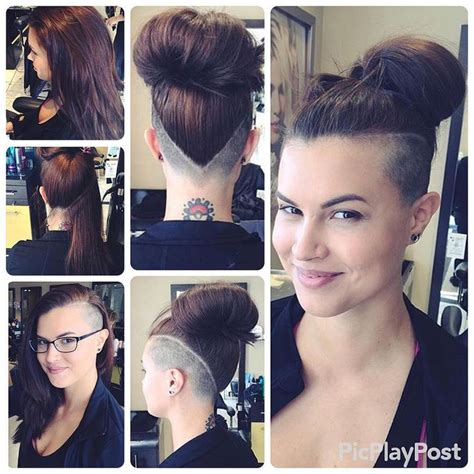 many styles of topknot shornnape shn submit your undercuts short hair don t