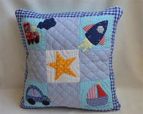 Applique Patchwork - patchwork applique baby boy pillow cover 16x16 ship car