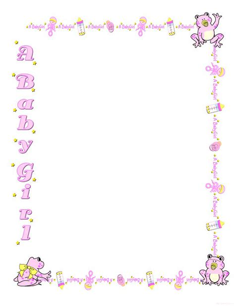 baby borders for microsoft word cliparts co baby page border cliparts co