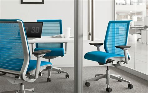 Steelcase Upholstery by Steelcase Think 3d Mesh In Blue Chair