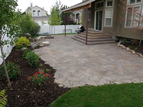 triyae backyard mulch patio various design