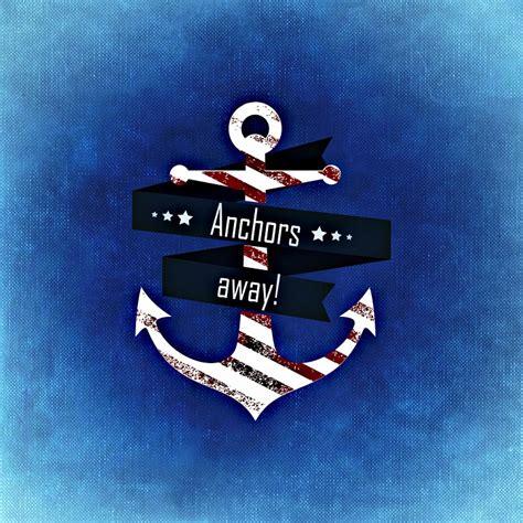anchor boat in lake free illustration anchor lake blue background free