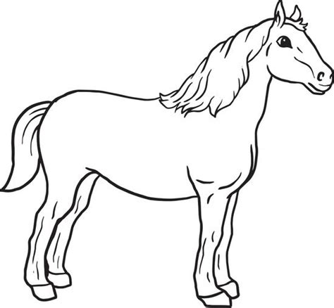 free printable horse coloring page for kids
