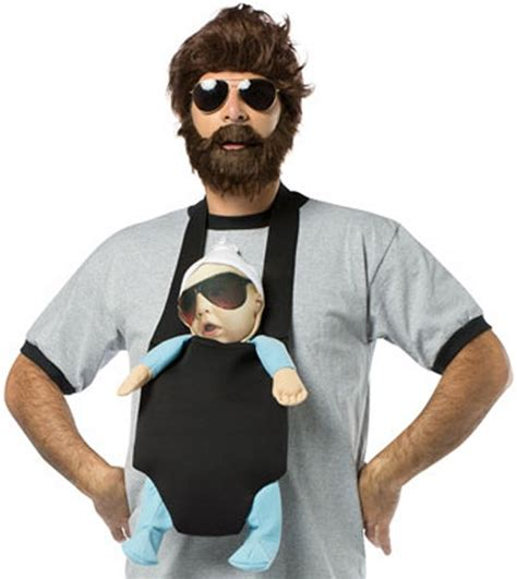 the hangover alan costume kit baby backpack adult beard