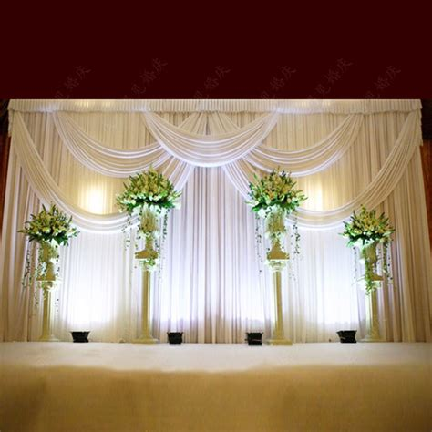 wedding swags and drapes top rated luxury white wedding backdrop with beatiful swag