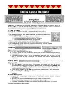 experience based resume template resume template skills sle computer exle