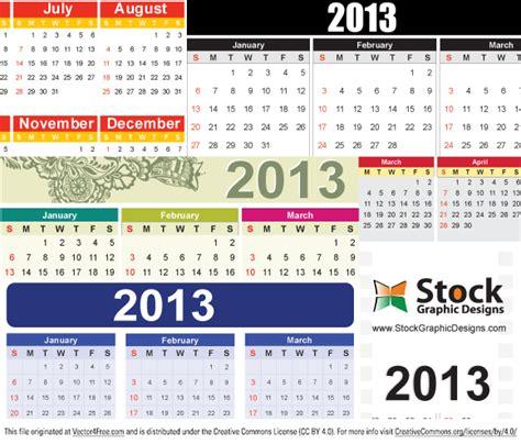 free calendar templates for adobe illustrator 2013 free vector calendar