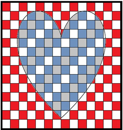 heart pattern on graph paper artistry of education pattern pages monday made it
