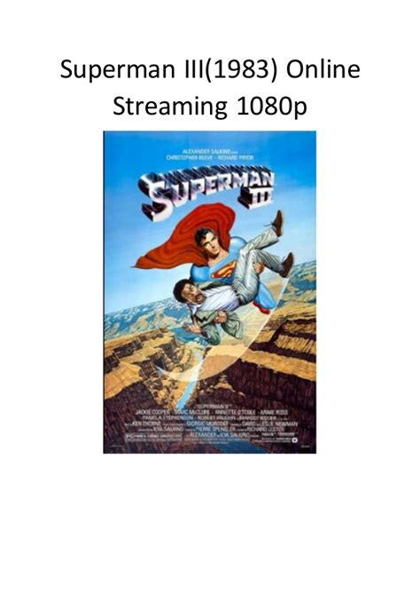 download film action comedy terbaru superman 3 1983 online streaming 1080p film action
