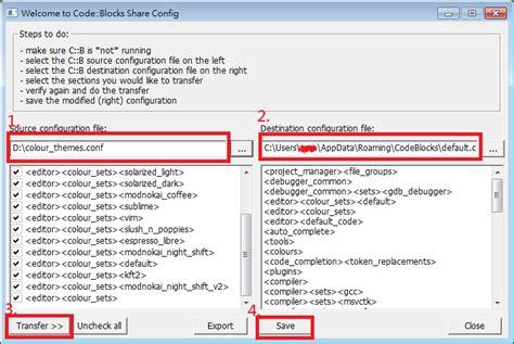 Code Blocks Colour Themes Conf | 阿牛滴blog 新增修改 code blocks 的 colour themes