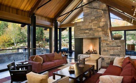 traditional stone house designs натуральный каменный интерьер помещений