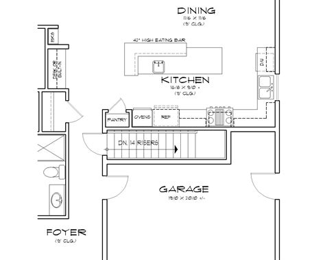 floor plans with stairs featured house plan pbh 3086 professional builder