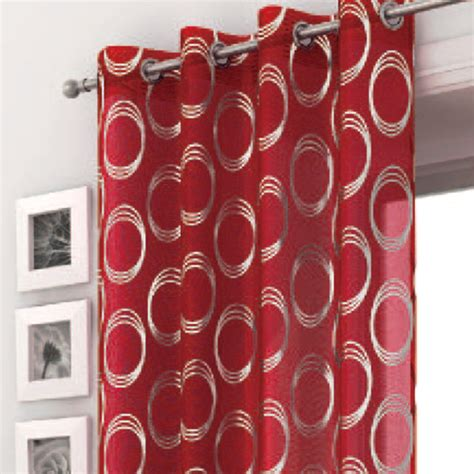 red and silver curtains katy red silver voile curtain panel harry corry limited