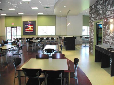 corporate food court design cafeteria at the corporate of unifirst office photo