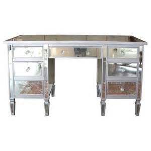 Mirrored Vanity Desk Table 7 Drawer Mirrored Vanity Desk At 1stdibs