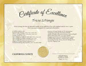 free certificate of excellence template certificate of excellence template sle exle format