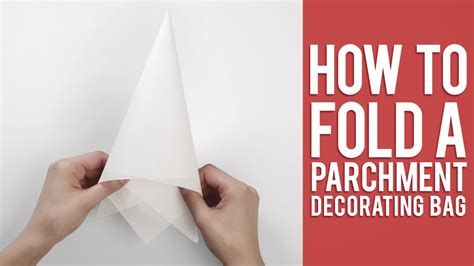 How To Fold Parchment Paper - learn how to fold a parchment bag for piping