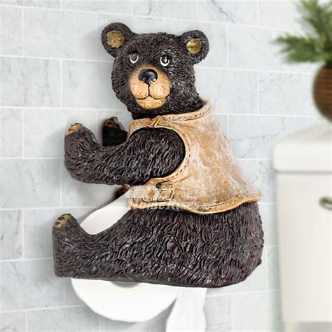 novelty toilet paper holder unique funny cute wall mounted bear toilet paper holder
