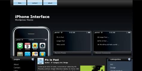 ui themes for iphone 10 th 232 mes wordpress pour les fans d iphone autour du web