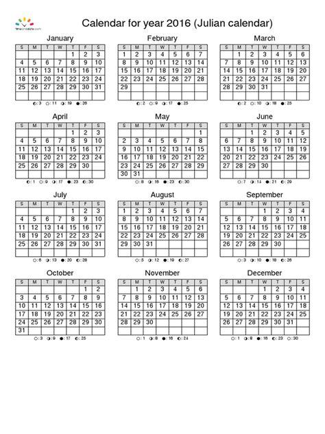 Calendario Juliano Calendario Juliano 2016