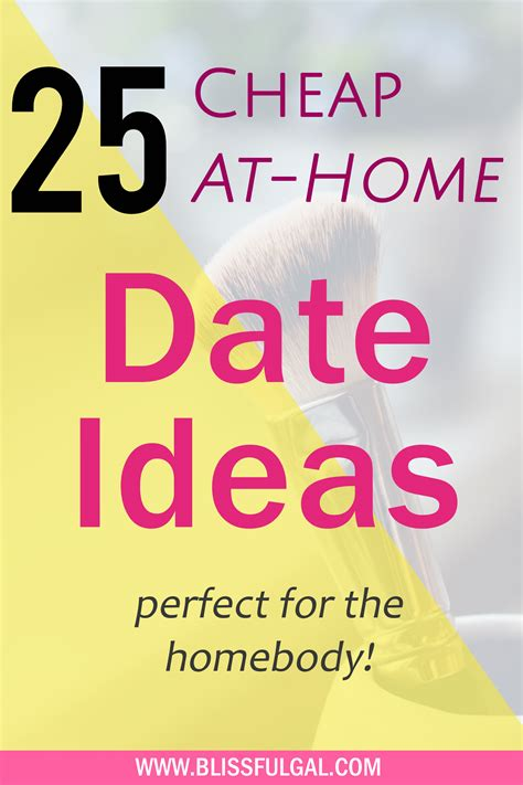 at home date ideas for the homebody blissful gal