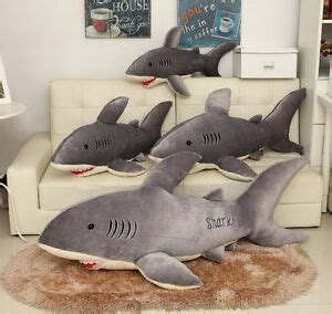 big shark pillow big shark cushion soft large stuffed animal