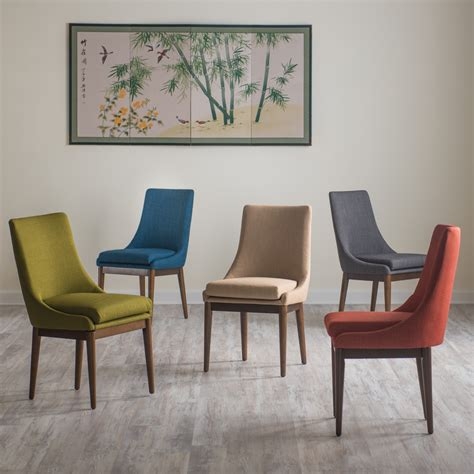 kitchen and dining room chairs belham living mid century modern upholstered dining chair set of 2 dining chairs at