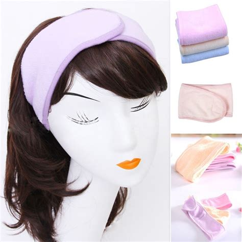 2017 new pink spa bath shower make up wash cosmetic headband hair band accessories sale us35
