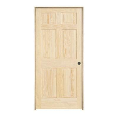 6 panel interior doors home depot jeld wen woodgrain 6 panel unfinished pine single prehung