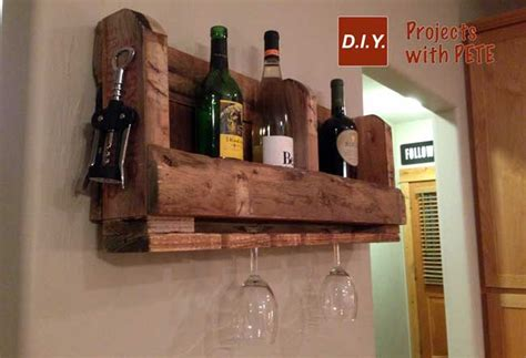Make A Wine Rack Out Of A Pallet how to make a pallet wine rack with diy pete