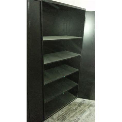 2 door storage cabinet black prostar 2 door 5 shelves black storage cabinet 36x18x72