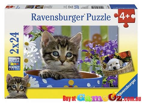 and cat ravensburger childrens jigsaw puzzle 2 x 24