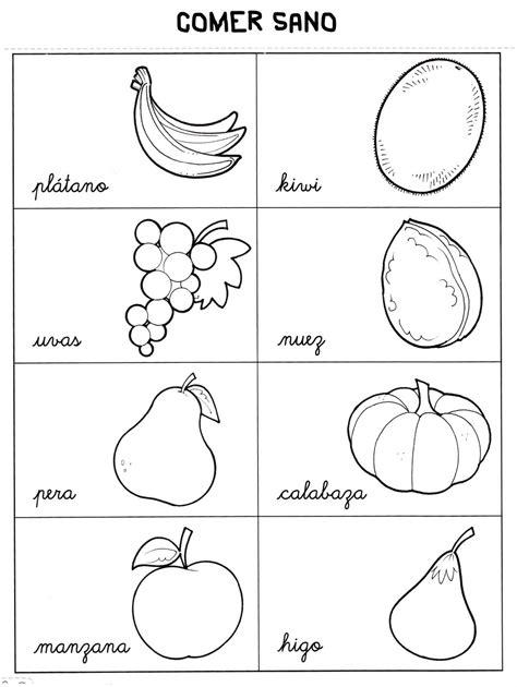 frutas para colorear en ingles imagui colorear frutas en ingl 233 s imagui