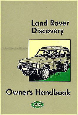 book repair manual 1989 land rover range rover navigation system 1989 1990 land rover discovery owners manual owner user handbook guide book ebay
