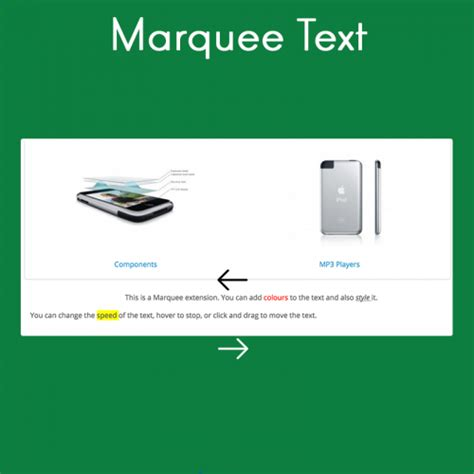 marquee text marketinsg