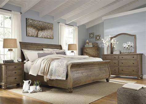 Trishley Bedroom Set by Trishley 5 Pc Bedroom Dresser Mirror Sleigh