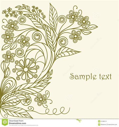 floral pattern hand drawing hand drawing floral pattern stock vector image 21369111