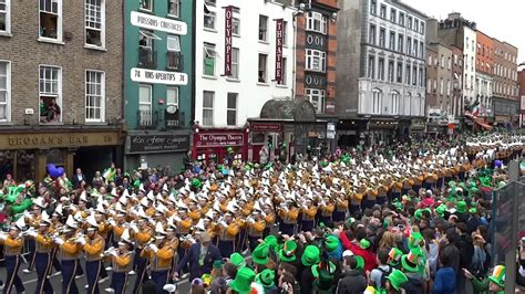 lsu tiger band in dublin st patrick s day parade youtube