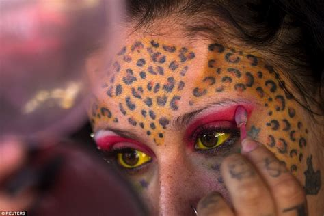 tattoo body modification fans show off their horns and inkings at ecuador tattoo