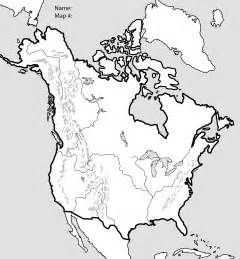 blank political map of america us and canada blank political map