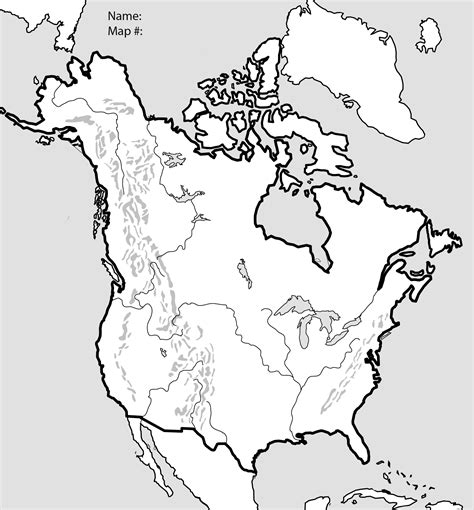 blank physical map of usa and canada unit 2 mr geography for