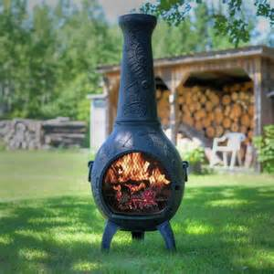 Chiminea Clearance The Blue Rooster Aluminum Wood Chiminea Reviews Wayfair