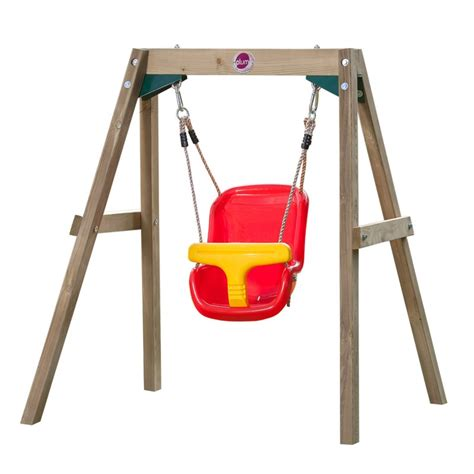 single baby swing plum kids backyard wooden play single swing set buy