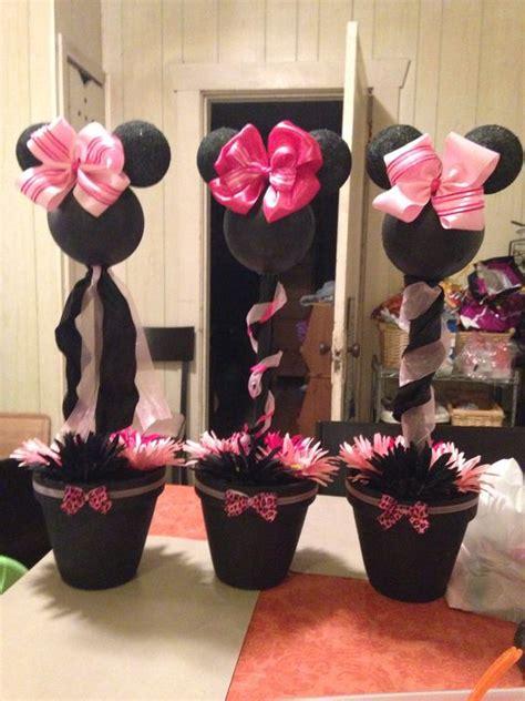 Cheetah Baby Shower Centerpieces by Minnie Mouse Pink Cheetah Baby Shower Centerpiece For My