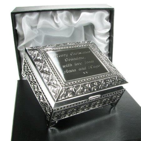 buy juliana silver plated trinket box antique finish