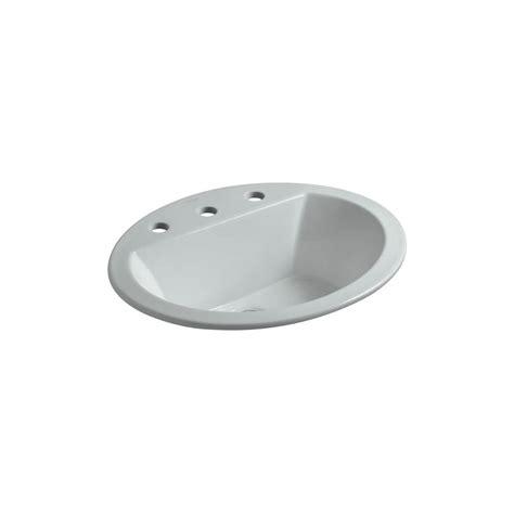 kohler bathroom sink drain kohler bryant drop in vitreous china bathroom sink in ice
