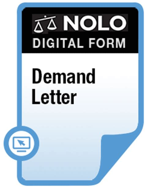 Demand Letter Nolo Demand Letter Form Nolo